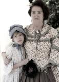 Civil War mother daughter faded