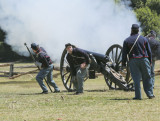 crew after cannon firing