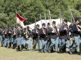Marching Union troops