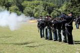 rifle firing practice flame