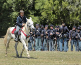 Yankee soldier white horse troops