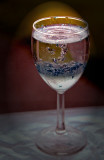 Wine glass with Nail Polish Bubbles
