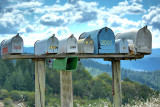 Mailboxes on Hood Mountain