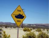 Fort Irwin Tank Sign
