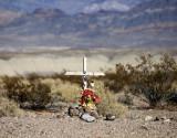 Desert roadside memorial