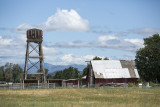 Water tower and barn