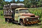 International truck with wine barrels Russian River Winery