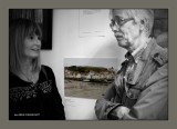 Lisa discusses her photo with John Lewell