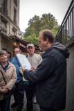 Chris of Paris Walks reads prose to conclude Hemingway walk