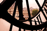 View of the Louvre from the Orsay clock