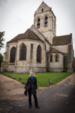 Me in front of the church Van Gogh painted