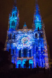 Light show at Chartres Cathedral