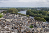 View of Chinon from Chateau