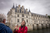 Christine, Rick Steves Guide, at Chenonceau