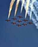 Canada's Aerobatic Snowbirds at Abbotsford Airshow 10 August 2014