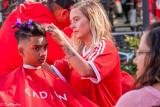 Hair cutting at Dundas Square II