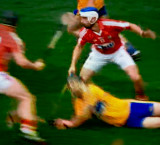 An impressionistic view.  All-Ireland Hurling  Championship, (Clare vs. Cork)