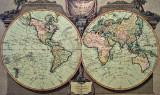 Map of the world, 1794, London Fleet Street