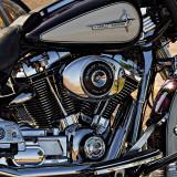 Harley Davidson Police Electra Glider - B&W version below.