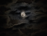 Moonlit clouds