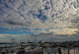 Clouds over marina