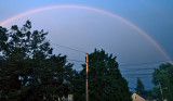 Rainbow above our home.