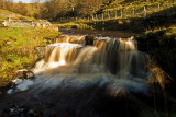Bank top waterfalls Nr Middleton Teesdale
