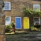 Blue door yellow door