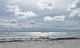 Sand, sky and silver sea
