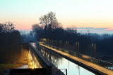 Pont Canal Digoin at dusk