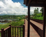 Vajiralongkron Res - New Wooden Bridge Leading to the Longest Wooden Bridge