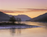 Winter Sunset Lochleven