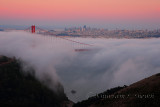 Foggy Golden Gate Bridge Sunset - San Francisco - August 2013