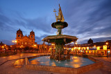 2015 Cuzco - Plaza De Armas Sunset
