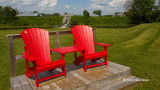 Fort Lennox Ravelin & Red Chairs