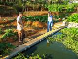 Iskandar and Donna at the Kankung Tank