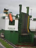 Car carrier Fidelio in the Miraflores locks