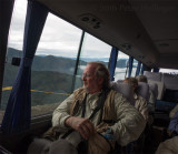 Dave Larson on bus