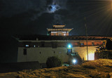 Paro Dzong with Full Moon