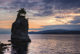 Siwash Rock Vancouver Sunset