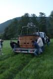 Notre baptême de l'air en montgolfière - Our first flight in hot-air ballon