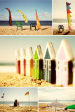 Beach Huts Collage