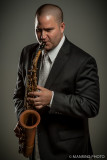 Ryan W playing his cool old sax, Hamilton OH. 3965