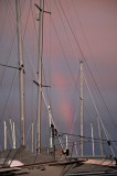 Lines In Front of a Dissipating Rainbow