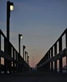 Dock Lines At Dusk