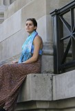 The Lady in the Blue Scarf