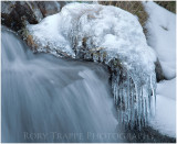 Ice in a mountain stream