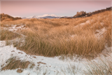 Snow on the dunes at Harlech