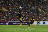 Khairul Fahmi picks up an aerial ball