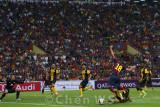 Jordi Alba tackled